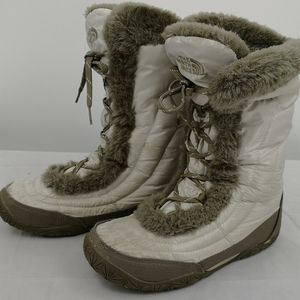 North Face Women's 6.5 Down Boot Gray Ice Pick